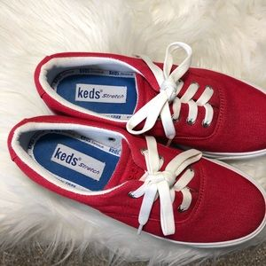 Keds Shoes - Keds | Red Canvas Crew Kick Platform Sneakers 6.5